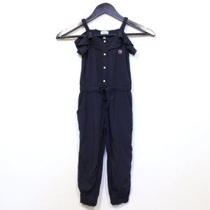 Armani Junior Viscose Sleeveless Ruffle Jumpsuit